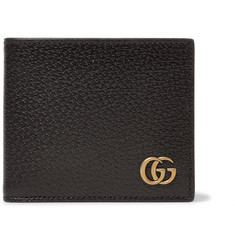 Gucci GG Marmont Textured-Leather Billfold Wallet