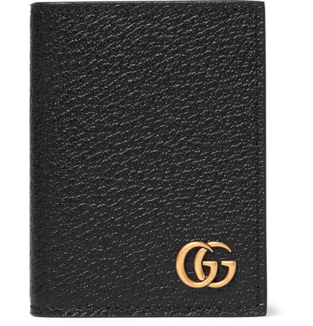 Gucci Pebble-Grain Leather Bifold Cardholder In Black