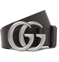 Gucci - 4cm Brown Full-Grain Leather Belt