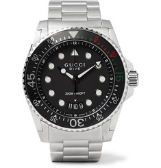 Gucci - Dive 45mm Stainless Steel Watch