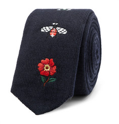 Gucci - 6cm Embroidered Wool Tie