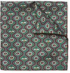 Gucci - Printed Silk-Twill Pocket Square