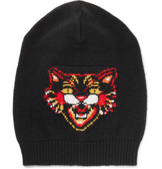 Gucci - Angry Cat Intarsia Wool Beanie