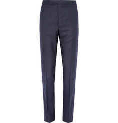 Thom Browne Midnight-Blue Wool-Blend Trousers