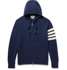 Thom Browne Striped Cashmere Zip-Up Hoodie
