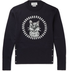 Thom Browne - Cat-Embroidered Wool Sweater
