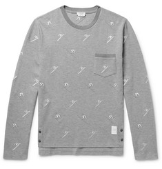 Thom Browne Slim-Fit Skier-Embroidered Cotton-Piqué T-Shirt