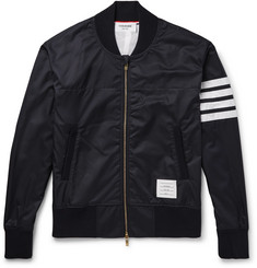 Thom Browne Slim-Fit Striped Ripstop Bomber Jacket