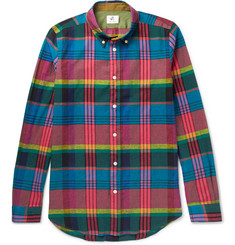 PS by Paul Smith Slim-Fit Checked Cotton and Linen-Blend Shirt