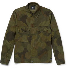 PS by Paul Smith Slim-Fit Camouflage-Print Cotton-Twill Field Jacket