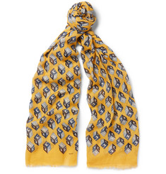 Gucci - Printed Cotton, Modal and Cashmere-Blend Scarf