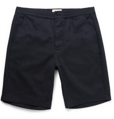 Oliver Spencer Brushed-Cotton Twill Drawstring Shorts
