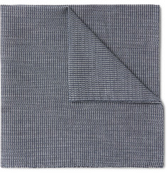Oliver Spencer Gower Woven Cotton Pocket Square