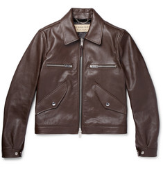 Burberry - Leather Bomber Jacket