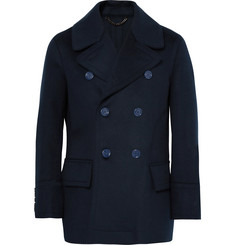 Burberry Double-Breasted Virgin Wool Peacoat