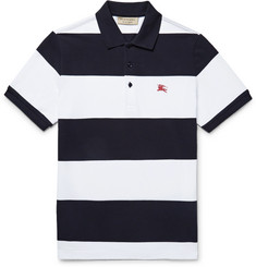 Burberry Slim-Fit Striped Cotton-Piqué Polo Shirt