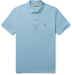 Burberry - Slim-Fit Cotton-Piqué Polo Shirt