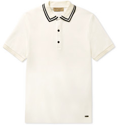 Burberry Slim-Fit Contrast-Tipped Cotton-Piqué Polo Shirt