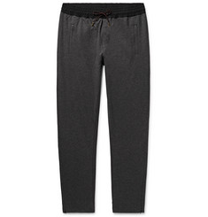 Burberry Slim-Fit Shell-Trimmed Cotton-Jersey Sweatpants