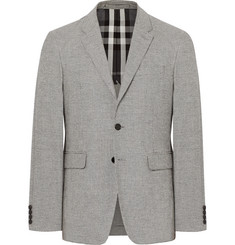 Burberry - Black Slim-Fit Puppytooth Woven Blazer