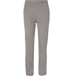 Burberry - Slim-Fit Houndstooth Woven Drawstring Trousers