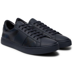Burberry - Checked Leather Sneakers
