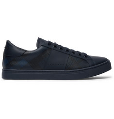 Burberry Checked Leather Sneakers