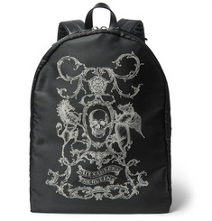 Alexander McQueen - Leather-Trimmed Printed Canvas Backpack