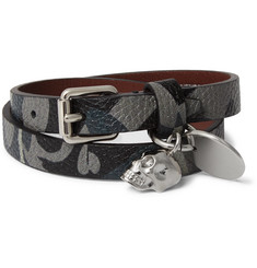 Alexander McQueen - Camouflage-Print Leather Wrap Bracelet