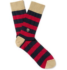 Alexander McQueen - Striped Cotton-Blend Jacquard Socks