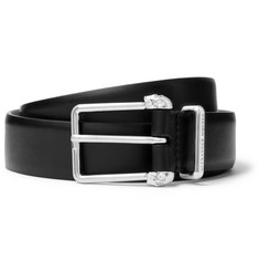 Alexander McQueen 3cm Black Leather Belt