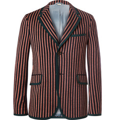Gucci Slim-Fit Striped Wool and Cotton-Blend Suit Jacket