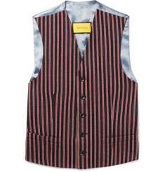 Gucci Slim-Fit Striped Wool and Cotton-Blend Waistcoat