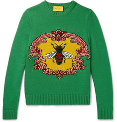 Gucci - Jacquard-Knit Wool Sweater