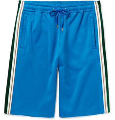 Gucci - Wide-Leg Faille and Velvet-Trimmed Jersey Shorts
