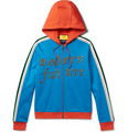 Gucci - Embroidered and Appliquéd Jersey  Zip-Up Hoodie