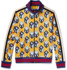 Gucci - Printed Satin-Jersey Track Jacket