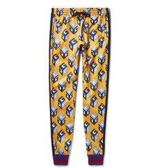 Gucci Tapered Printed Satin-Jersey Sweatpants