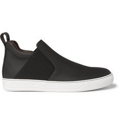 Lanvin Full-Grain Leather High-Top Sneakers
