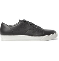 Lanvin Cap-Toe Leather Sneakers