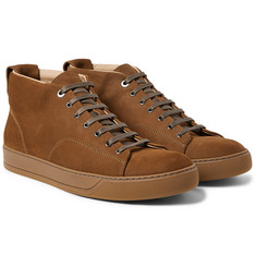 Lanvin - Nubuck High-Top Sneakers
