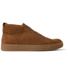 Lanvin Nubuck High-Top Sneakers