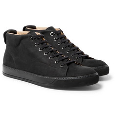 Lanvin - Cap-Toe Nubuck High-Top Sneakers