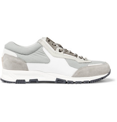 Lanvin Leather, Suede and Shell Sneakers