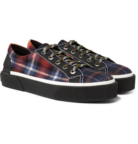 Checked Felt Sneakers - Multi