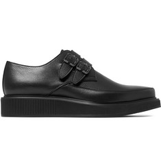 Lanvin Leather Monk-Strap Shoes