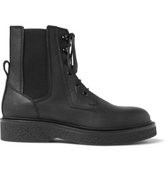 Lanvin Leather Combat Boots