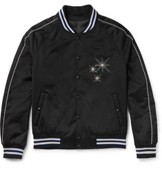 Lanvin Embroidered Satin Bomber Jacket