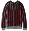 Lanvin - Striped Brushed Merino Wool Cardigan