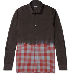 Lanvin Dip-Dyed Checked Cotton Shirt
